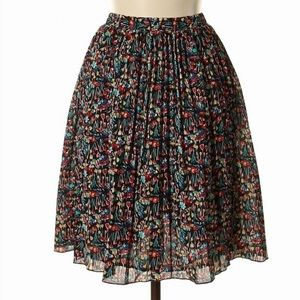 Anthro tabitha visionary ditsy tulip floral skirt